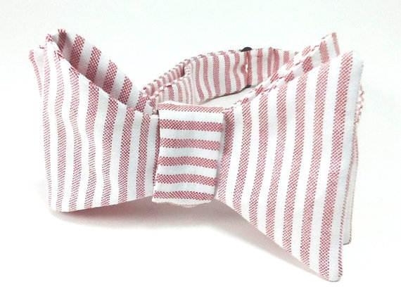 Oxford Dyed Red & White Stripe
