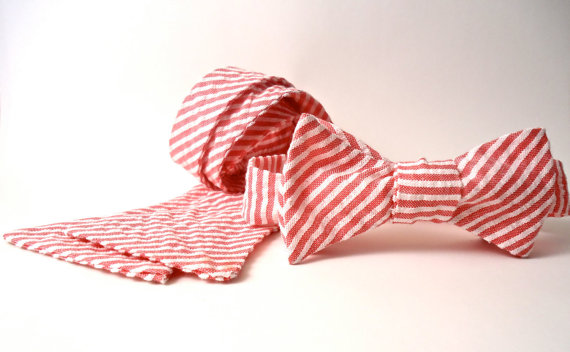 Bow Tie - Seersucker -  Freestyle Tie