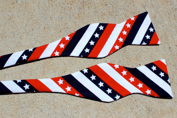 Bow Tie - 4th of July - Patriotic  Freestyle Tie