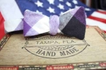 Ellis Marshal Flanel Purple Bow Tie