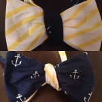 Chesapeake Tides navy inspired bow tie