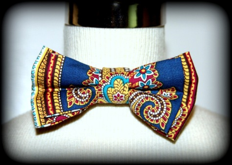 Blue/White Paisley Freestyle Self-Tie