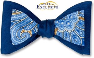 Hermitage: blue paisley framed in navy